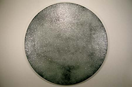 Jon D'Orazio   Mirror , 1994   urethane and glass on canvas, 75 inches in diameter