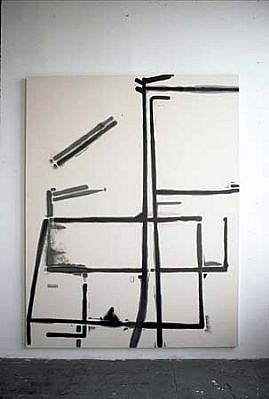 Heiner Blumenthal   Untitled , 2000   paint on canvas, 300 x 220 cm