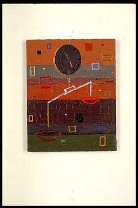Elizabeth Albert   Weighting (Rough) , 1995   oil, enamel on canvas, 20 x 16 inches