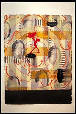 Linda Mieko Allen   Second Nature III , 1999   mixed media on paper, 30 x 23 inches