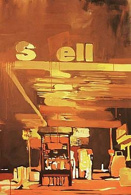Carl Auge   Sell No. 2 , 2005   oil on canvas, 44 x 36 inches