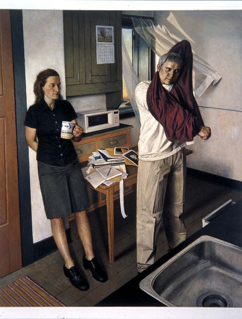Paul Fenniak   The Kitchen (Ways of Escape) , 2002   oil on canvas, 78 x 60 in.