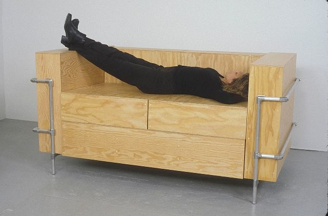 Barbara Gallucci   Couch , 2004   plywood and aluminum