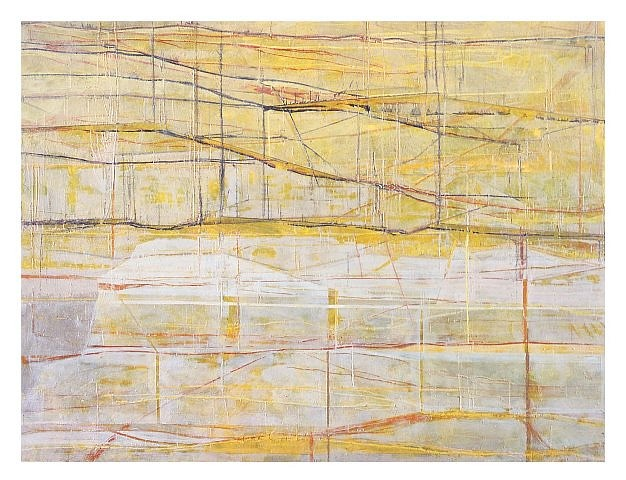 Marcus Andre   Yellow Structures , 2004   encaustic on canvas, 75 3/5 x 99 1/5 in.