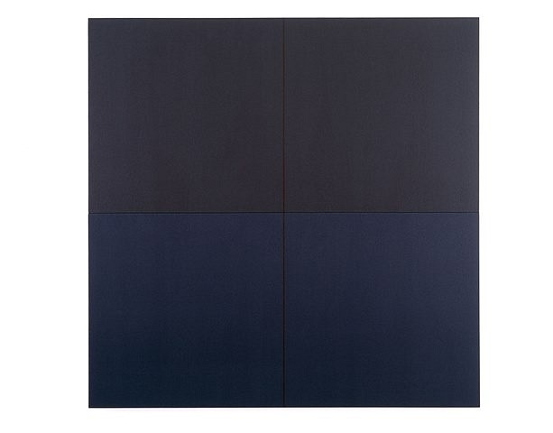 Perry Araeipour   LA 93 , 1998   acrylic on raw canvas, 2 panels, 25 x 50 inches, joined: 50 x 50 inches