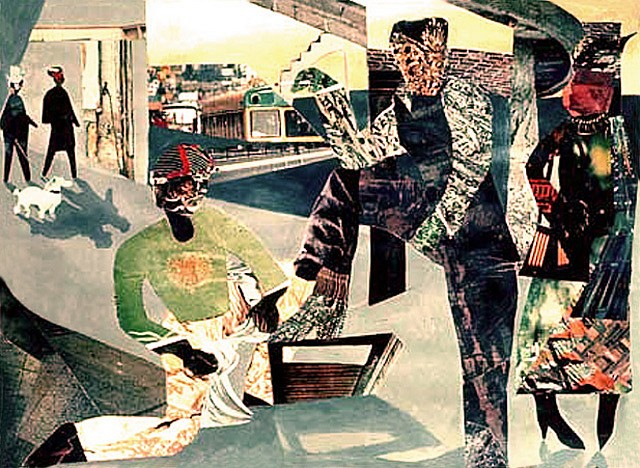 Greg Bray   Shoe Shine Boy , 1983   collage, 22 x 28 inches