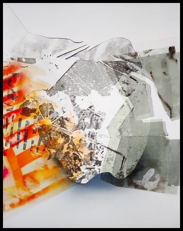 Rebecca Aloisio   II Imagined Relics Series , 2014   monoprint and paint on paper, 60 x 78 in.