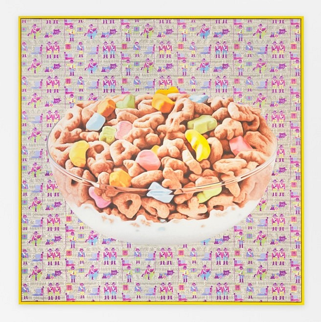 Jack Early   Lucky Charms , 2015   oil on silkscreen canvas, 84 x 84 in.