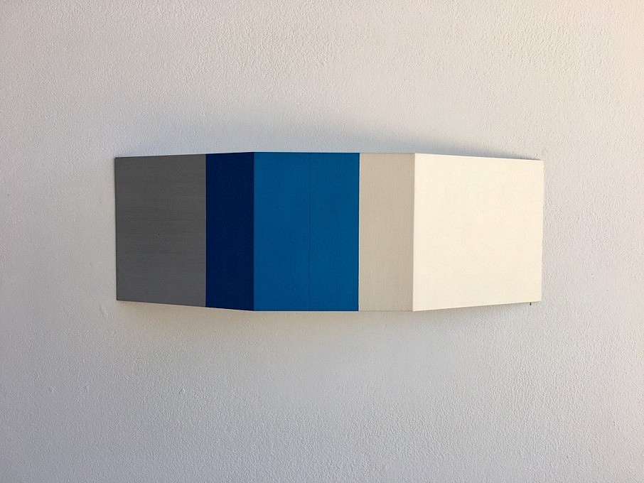 Stuart Arends   Wedge 50 , 2015   oil and clear lacquer on solid aluminum, 4 x 12 x 3/4 in.
